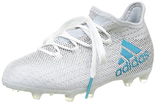 adidas adidas Jungen X 17.1 FG Fußballschuhe, Mehrfarbig (FTWR White/Energy Blue S17/clear Grey S12), 36 EU