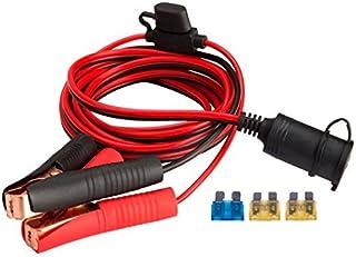 Magiin 12V/24V KFZ Batterieklemme Clip on 3m Zigarettenanzünder Kabel Steckdose Adapter Buchse mit Sicherungsschutz für Tragbar KFZ Batterie Wechselrichter Kompressor