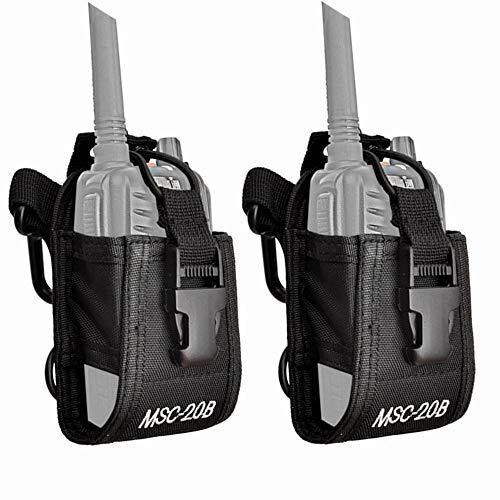 JOYOOO 2PCS Multi-Función Bolsa Carcasa Funda Case de Nylon Para Walkie-Talkie radio,Dispositivos Electronicos Portatiles y GPS , etc.