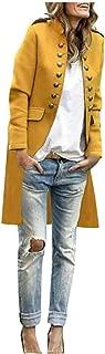 SONIGER ʕ•ᴥ•ʔ Womens Classic Open Front Long Sleeve Blazer Double-Breast Wool Blend Coat Fashion Jacket Outwear Cardigan