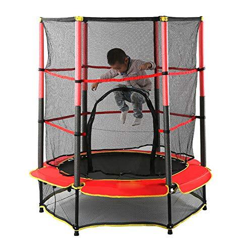Trampolín Niños con Red de Protección Plegable Interior Cama Elastica para Entrenamiento de Saltos, Fitness