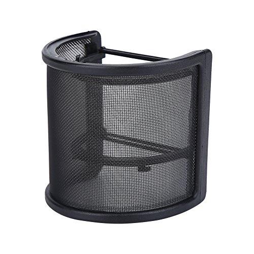 Alomejor Mic Pop Filter Windscreen Micrófono Wind Screen Mask Shield para Grabación de Canto y Home Broadcast Studio