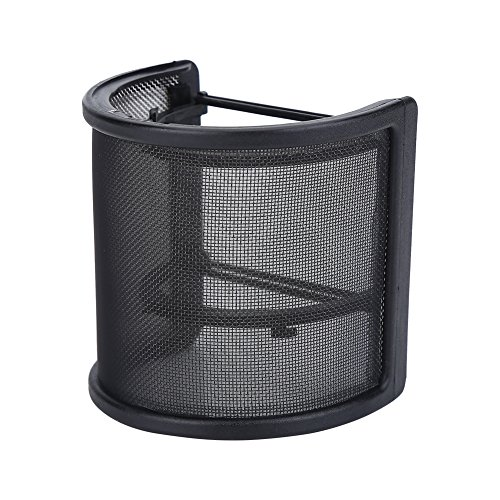 Microfoon popfilter, U-vormig windschermmasker Metalen rooster microfoon windscherm voor studio