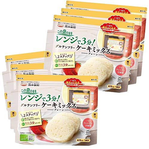 [6袋] 国内産(九州)米粉使用 この袋を使ってつくるケーキ グルテンフリー ケーキミックス(プレーン)