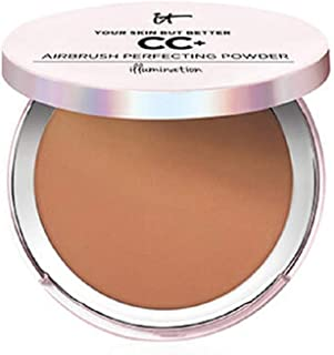 it Cosmetics Your Skin but Better, CC+ Airbrush Perfecting Powder, Illumination (Deep)