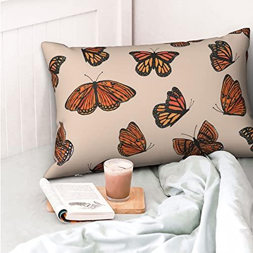 VVSADEB Hermosa funda de almohada de 50,8 cm x 70,8 cm, funda de almohada con cremallera, suave y acogedora, arrugas, tamaño estándar, 1 paquete