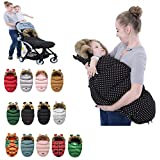 ベビースリーピングバッグウィンター、ベビーカー用ベビースリーピングバッグ、暖かい毛布、新生児スリーピングバッグ、ベビーカーフットマフカバーWinterFLUFFYフットマフウォーマー、100 cm,13