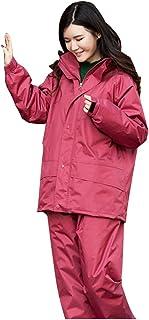 PENGFEI 恋人たち レインコートポンチョ 防水 ジャケット レインパンツ 分割タイプ 厚い ハイキング 通気性のある、 2色、 5サイズ (色 : 1#Thicker, サイズ さいず : M)