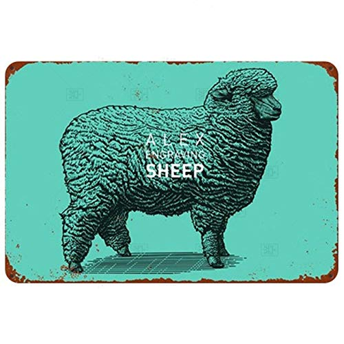 LCCNE Cerdo Vaca Pollo Animal Placa Metal Vintage Cartel de Chapa Cocina Restaurante Decorativo Cartel de Metal Decoración de Bar Vintage Cartel de Metal Placa de Metal 20x30cm 11
