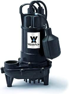WaterAce WA50CSW Sump Pump, 1/2 HP, Black