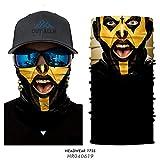 3D Joker Payaso Máscara Bandana Banda de Diadema UV a Prueba de Viento Ciclismo Bandana sin Costuras Batman Hulk Cosplay Escudo Facial Cuello Polainas Headwears