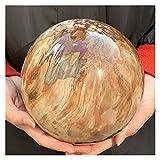 WERWER Esfera de Madera petrificada Natural Águila fósil de Cuarzo Cuarzo de Cristal de la Bola para el hogar Artesanía (Size : 900-1000g)