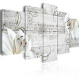 murando Cuadro en Lienzo Flores 200x100 cm Impresión de 5 Piezas Material Tejido no...