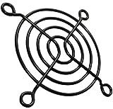 AERZETIX: 5 x Rejilla Negra de protección 60x60mm ventilación para Ventilador de Caja de Ordenador PC C15105