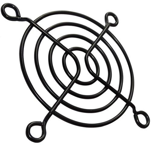 AERZETIX: 5X Rejilla de protección - Negra - 60x60mm - Ventilación para Ventilador de Caja de Ordenador PC - C15105
