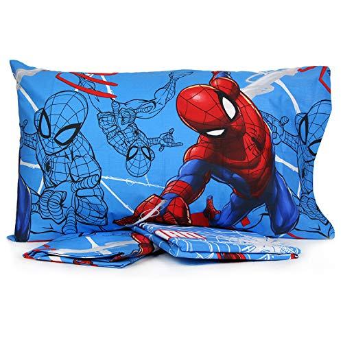 Personaggi Completo Letto Una Piazza Singolo Cotone sopra sotto federe Spiderman Originale - Singolo