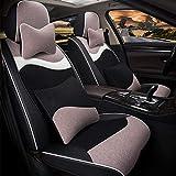 Cubierta de asiento de automóvil conjunto completo, almohadilla de asiento de vellón corto de invierno Cubierta de 4 piezas Set Universal Car Asiento de asiento Cojín,B