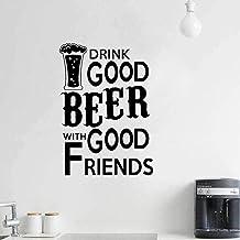 Bebe Cerveza Con Buenos Amigos. Restaurante Decoración Del Hogar Pvc Etiqueta De La Pared 51,2 Cm * 72 Cm
