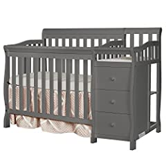 Convertibility options: The Jayden 4-in-1 Mini Convertible Crib and Changer grows along with your child. Starting as a crib, you can convert it into a mini daybed and twin-size bed (bed rails sold separately) Its compact size makes it ideal for small...