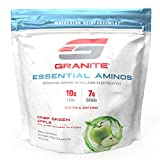 Granite® Essential Amino Acids + Branched Chain Amino Acids + Electrolytes (Green Apple) | 10g EAAs + 7g BCAAs | Supports Muscle Growth | Soy Free + Gluten Free + Vegan | Made in USA