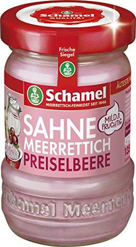 Schamel Meerrettich Preiselbeer-Sahne, 12er Pack (12 x 135 g)