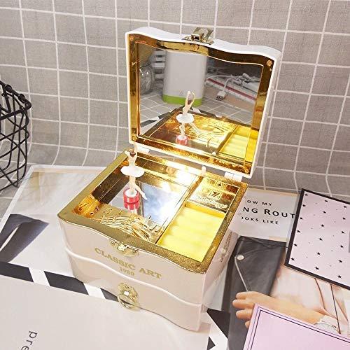 Muziekdoosjes Classic Music Box Ballerina Jewelry box verjaardagscadeau for vriendin Decor van het Huis (Color : White, Size : Free)