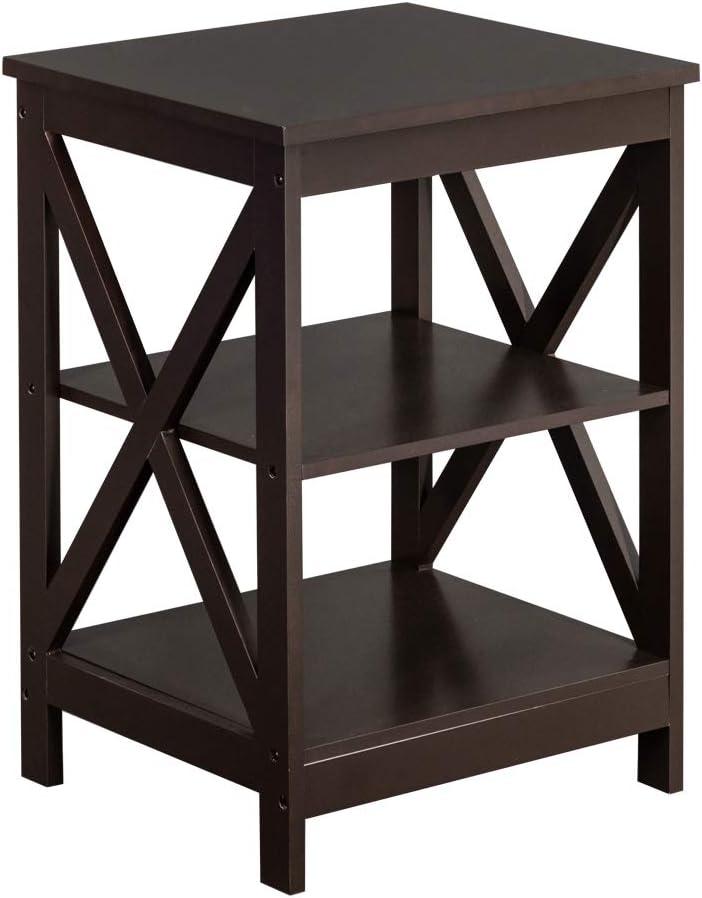Over item handling BELUPAI Genuine Double Cross Coffee Edge Table