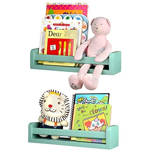 Halcent Wandregal Holz Regal Kinderzimmer Bücherregale, Gewürzregal Wandboard für Küche, Schweberegale Badregal für Badezimmer Wand Organizer (2 Stück)