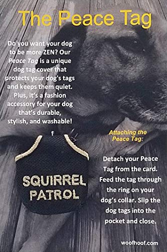 Woofhoof Peace Tag Pictures and Phrases (Squirrel Patrol - Black)