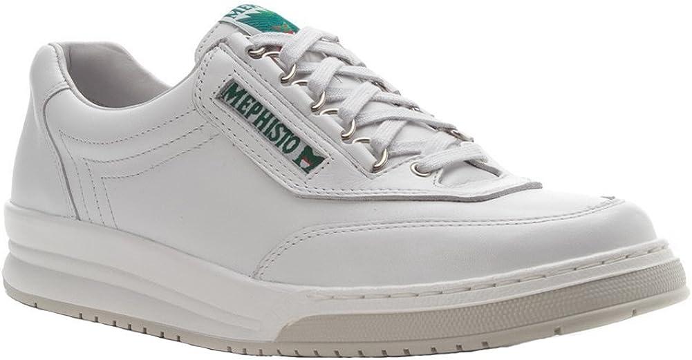Mephisto Men's Match Oxfords Shoes, White Calf