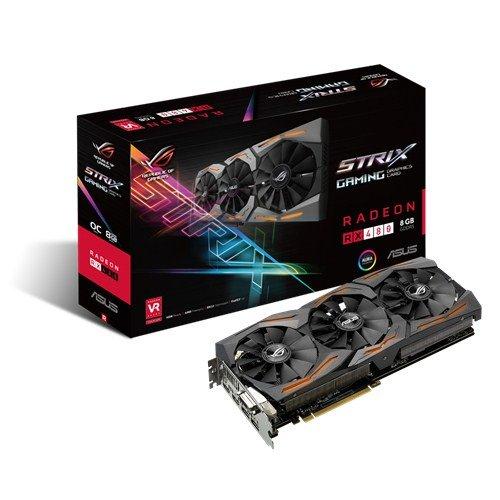 ASUS STRIX-RX480-O8G-GAMING Radeon RX 480 8GB GDDR5 - Tarjeta gráfica (Radeon RX 480, 8 GB, GDDR5, 256 bit, 7680 x 4320 Pixeles, PCI Express 3.0)