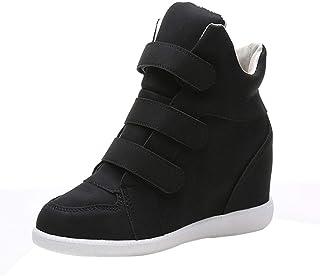Zapatillas para Mujer Otoño Invierno 2018 Moda PAOLIAN Zapatos Plataforma Señora Botas Bajos Tacón cuña Casual Calzado de Dama Botines de Terciopelo Tallas Grandes