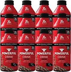 ✔️20G OF PROTEIN: Powerful Drink rich mocha double espresso shake has 20 grams of protein combined to offer the indulgence only coffee can provide with the healthy nutrition of Greek Yogurt ✔️ON-THE-GO PROTEIN: This naturally sweetened smooth shake n...