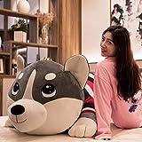 THIBETA Peluche CojíN Grande para Perros De Peluche Husky Ragdoll-Grey_170cm
