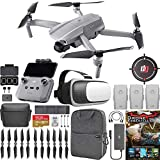 DJI CP.MA.00000167.03 Mavic Air 2 Drone Quadcopter Fly More Combo (Renewed) With One Year Warranty Bundle with Drone Landing Pad, 32GB Memory Card, Drone Essentials Software, Backpack and VR Viewer