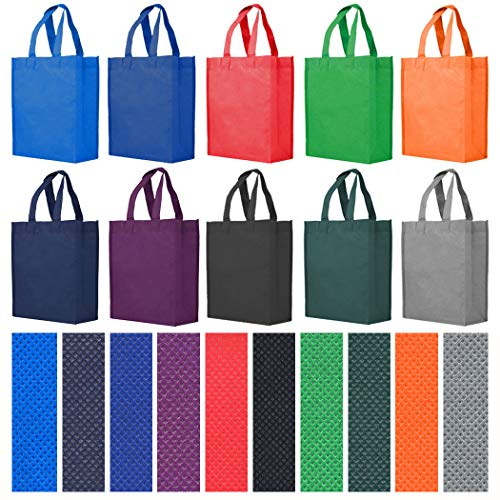 Reusable Gift / Party / Lunch Tote Bags - 25 Pack - Fuchsia