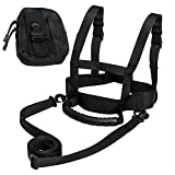 ZipSeven Kids Ski Shoulder Harness Heavy Duty Ski Training Leash Ski Training Harness for Skating, Skateboarding, Snowboard, Roller Skating, Cycling for Kids and Beginners