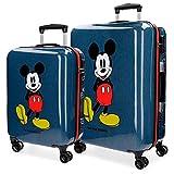 Juego de maletas Mickey Blue rígido 55-69cm