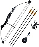 Petron 55lb Stealth Adult Compound Bow kit with Arrows & Release Aid