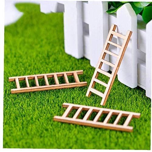 Angoter Regalos en Miniatura 6PCS Hada de Madera Escaleras Jardín decoración del hogar Mini Toy Craft Micro Adornos Decoración