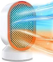 EnweNge 650W Calefactor Cerámico Calentador Portátil Space con Termostato Ajustable y Protección contra Sobrecalentamiento para Dormitorio, Oficina, Baño