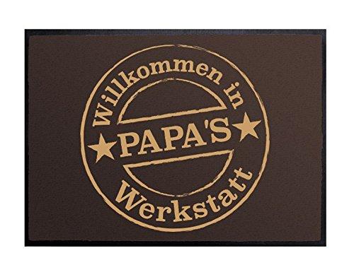 Klebefieber Fußmatte Papas Werkstatt B x H: 85cm x 60cm