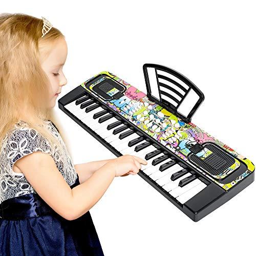 Shayson 37-Tasten Einsteiger Digital Piano Elektronisches Klavier Keyboard Kinder mit 8 Töne, 8 Rhythmen, 10 Demos,8 Soundeffekt