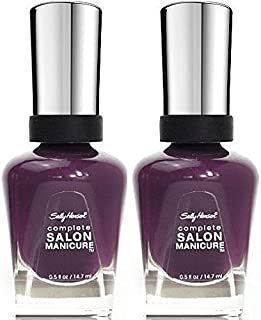 Sally Hansen Complete Salon Manicure #500 TROUBLE MAKER (PACK OF 2) Plus a Free Nail Files From fetish for Natural Nails And Nail Tips