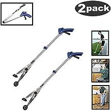 [New Version]2 Pack Foldable Reacher Grabber Tool, Long 32