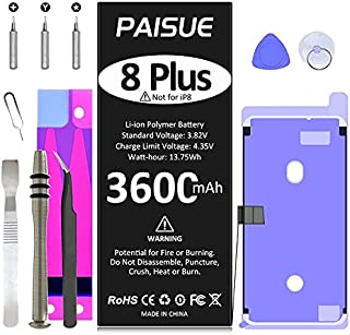 Battery for iPhone 8 Plus, 3600mAh New Upgraded 0 Cycle Higher Capacity Battery Replacement for iPhone 8 Plus Models A1864...