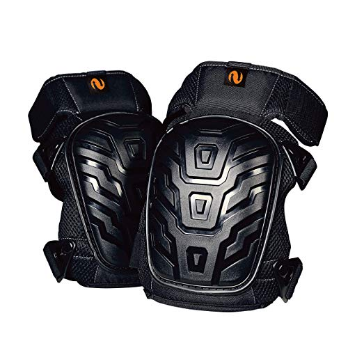 Heavy Duty Knee Pads for Work - With Comfortable Gel Cushion and Strong Triple Resistant Straps - Kneepads for Men and Women - To use in Gardening Cleaning Flooring Carpentry Construction Welding