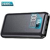KEDRON Batterie Externe 24000mAh Power Bank Chargeur Portable Deux Entrées & 3 Ports Haute Vitesse et Technologie Digi-Power pour iPhoneX 8Plus Samung S8 Tablette PSP D'autre USB Via Device …