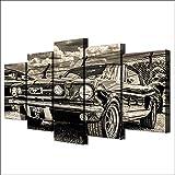WJDJT Impresiones sobre Lienzo 5 Panel Coche Antiguo Clásico Imprimir Cuadro Lienzo Pared Modernos Cartel Decoración para El Hogar De Pared para Hogar Salón Oficina Decoración Regalo