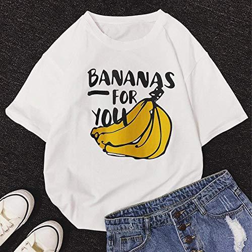 T-Shirt Femme Tshirt New Summer O-Neck Manches Courtes Mignon Cartoon T-Shirt Femmes S 11463